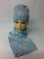 Молодежный набор шапка и шарф