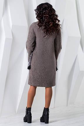 Теплое женское зимнее пальто чернобурка/енот (р. 44-60) арт. 966 Тон 78, фото 2