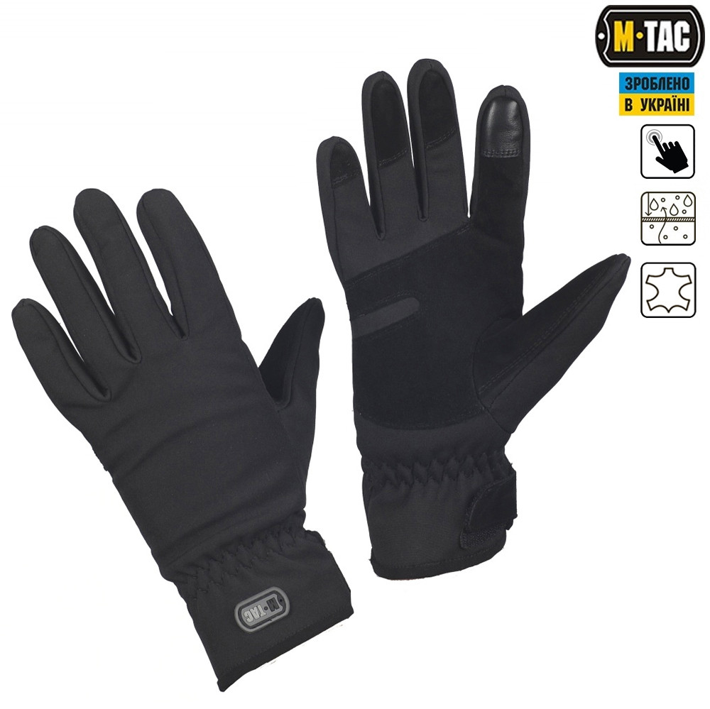 M-TAC ПЕРЧАТКИ WINTER TACTICAL WATERPROOF BLACK