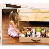 Органайзер большой с крышкой на молнии -  для вещей, игрушек, обуви - 75*60см