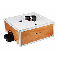 Инкубатор Курочка Ряба на80  яиц, Авто+цифр,ЛАМПОВЫЙ,Обшит пластиком,таймер,привод
