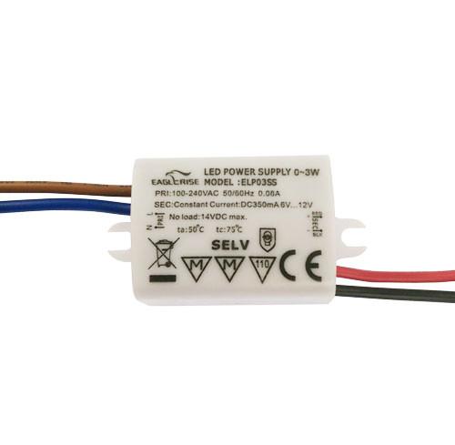 Блок живлення SLP03SS EAGLERISE, драйвер світлодіода 350ма 3 Вт IP65 7853