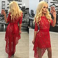 Женское платье со шлейфом р639