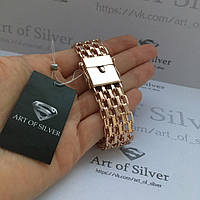 Серебряный позолоченный браслет.  Браслет Якорь шестирядный - Серебро925, покрытое позолотой 585.