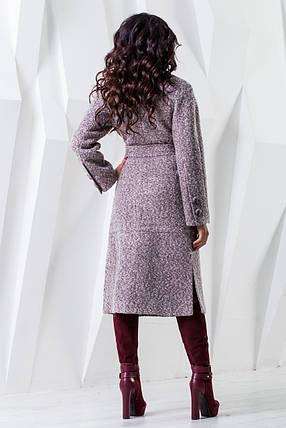 Женское длинное шерстяное демисезонное пальто р. 44-54 арт. 983 Тон 42, фото 2
