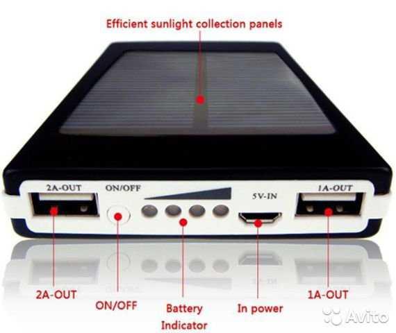 Зарядное Power Bank 25000 mAh с солнечной батареей