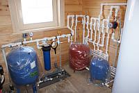 Проводка сантехники+подвод горячей воды+канализация