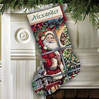 "Набор для вышивания 08778 ""Candy Cane Santa Stocking""  DIMENSIONS"