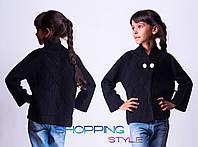 Шерстяной черный свитер для девочки