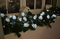 Гирлянда на батарейках 4 метра - 40 лампочек - 20 тюльпанов, фото 1