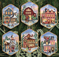 "08785 ""Christmas Village Ornaments"" набор для вышивания DIMENSIONS"