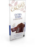 Шоколад Cachet (Кашет) екстра чорний 70% какао 100г Бельгія
