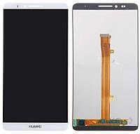 Дисплей (экран) для телефона Huawei Ascend Mate 7 + Touchscreen Original White