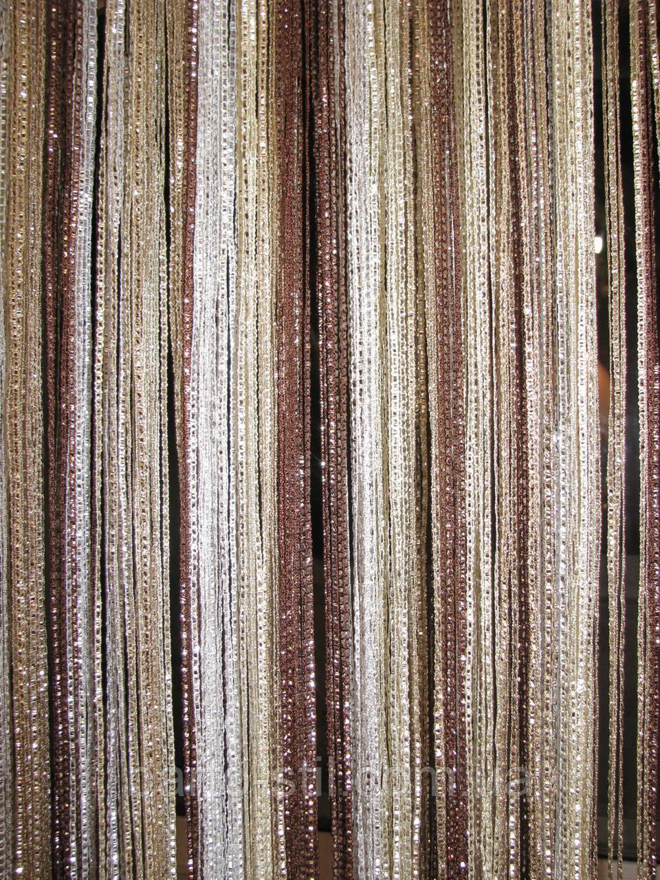 фото шторы нити