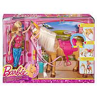"Игровой набор Barbie ""Барби с лошадкой Тони"" Barbie Feed & Cuddle Tawny Horse"