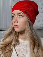 Шапка женская зимняя, вязаная «Мода», красная
