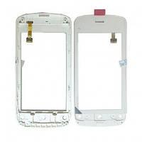 Тачскрин сенсорное стекло для Nokia C5-03/C5-04 with frame white