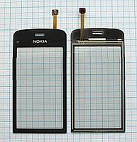 Тачскрин сенсорное стекло для Nokia C5-03/C5-05/C5-06/C5-08 High Copy black