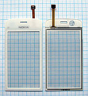 Тачскрин сенсорное стекло для Nokia C5-03/C5-05/C5-06/C5-08 High Copy white