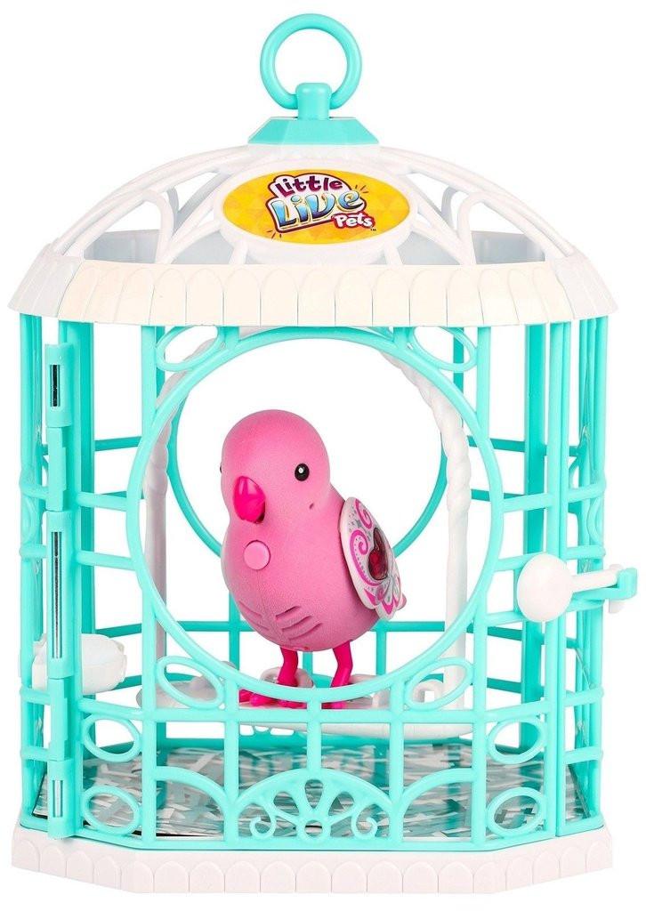 Интерактивная игрушка «Little Live Pets» (28241) птичка в клетке Рубиновая Красавица