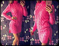 Теплое вязаное платье Валерия