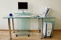 Компьютерный стол из стекла под заказ