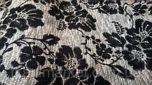 Браслон квіти темні, оббивна тканина для меблів, Туреччина (віт)