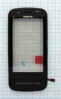 Тачскрин сенсорное стекло для Nokia C6 High Copy with frame black