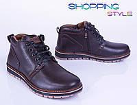 Мужские зимние ботинки из кожи