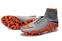 Футбольные бутсы Nike Hypervenom Phantom II FG Wolf Grey/Total Orange/Black/Black
