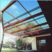 Профилированный поликарбонат прозрачный, фото 3