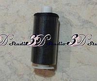 Нитка шелковая черная (для бисера)