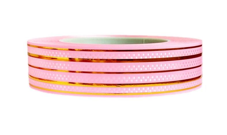 Лента флористическая розовая  (3см х 50ярдов)