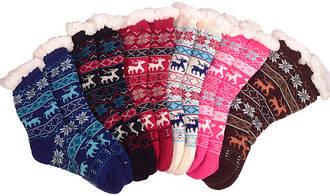 Носки тапочки женские BaGi Wool (Олень)