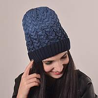 Женская вязаная шапка La Visio 164 синий