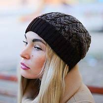 Женская вязаная шапка La Visio 164 шоколад, фото 3