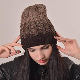 Женская вязаная шапка La Visio 164 шоколад