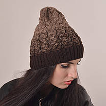 Женская вязаная шапка La Visio 164 шоколад, фото 2