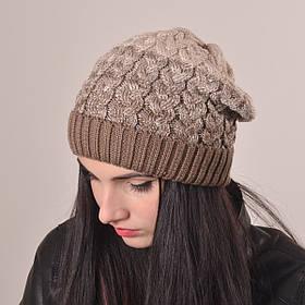 Женская вязаная шапка La Visio 164 беж