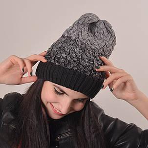 Женская вязаная шапка La Visio 164 черный, фото 2