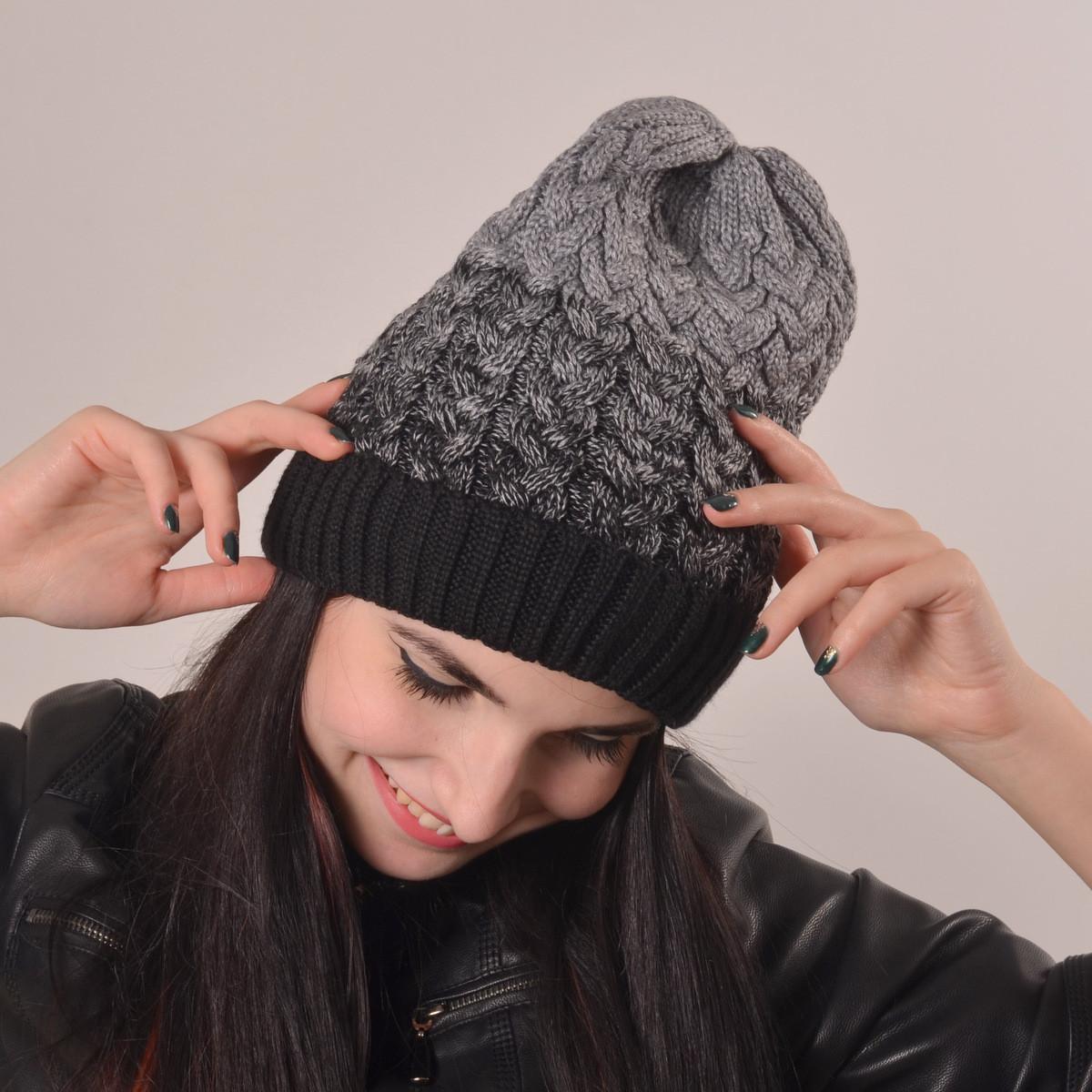 Женская вязаная шапка La Visio 164 черный