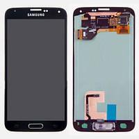 Модуль матрица сенсор Samsung Galaxy S5 Duos (G900A, G900F, G900H, G900i, G900T) черный