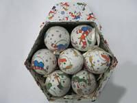 """Подарочный набор шариков """"Снеговик"""" 14 шт."""