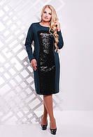 Женское платье больших размеров Асти зеленое
