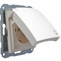 Розетка с заземления с крышкой 16А/250В, Fiorena белый, 22001302