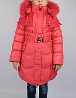 Пальто зимнее ворот вязан  размеры с 7-15 лет размеры 128-152см