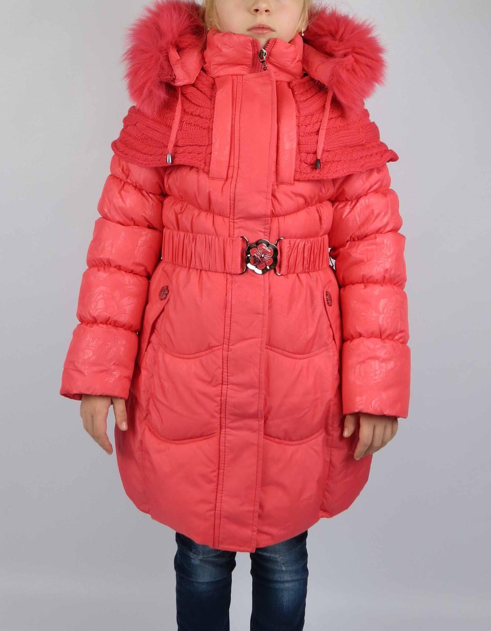 Пальто зимнее ворот вязан  размеры с 7-15 лет размеры 128-152см, фото 1