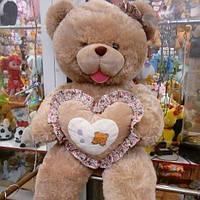 Мягкая игрушка Мишка с сердцем,силикон +/-1.5 метра