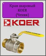 """Кран шаровый газ 1/2"""" ВН Koer (Чехия) ручка"""