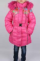 Пальто зимнее 100% холлофайбер размеры 122 и 134, фото 1